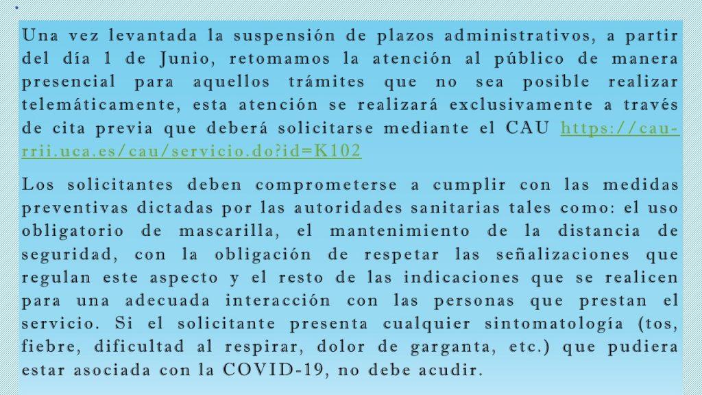 Cita previa Servicio de Relaciones Internacionales