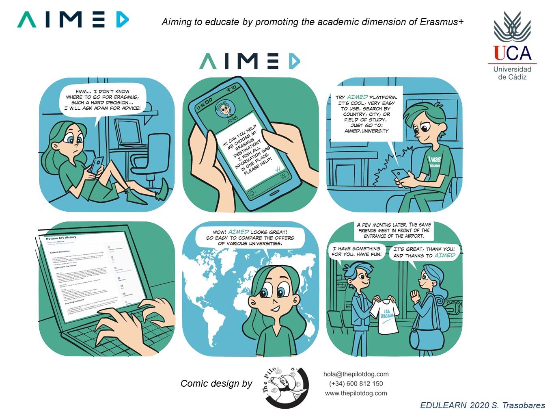 Presentación del proyecto AIMED en EDULEARN2020: AIMING TO EDUCATE BY PROMOTING THE ACADEMIC DIMENSION OF ERASMUS+