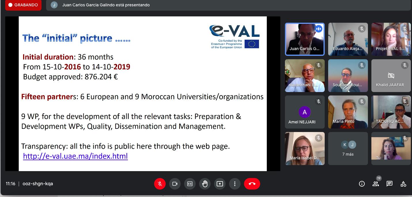 """El proyecto Erasmus+ CBHE """"E-Val"""" celebra su reunión de clausura"""